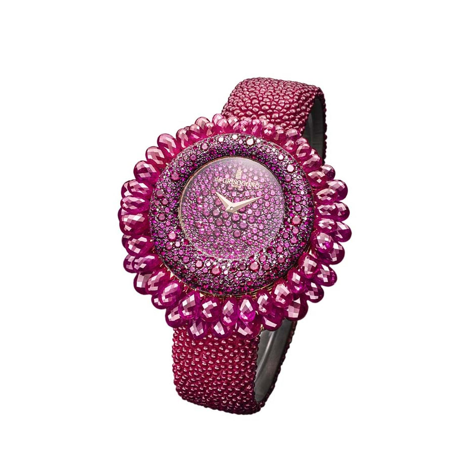 Grappoli ruby watch from de GRISOGONO