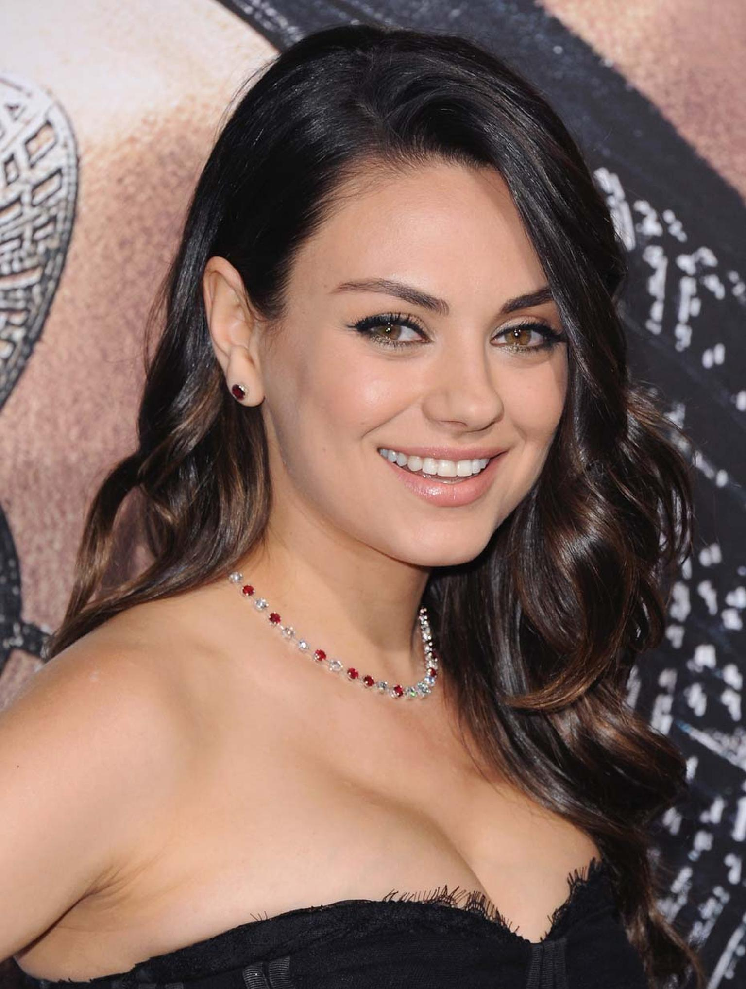Actress Mila Kunis wore a Miiori necklace set with Gemfields rubies to the premiere of her 2015 movie, Jupiter Ascending.