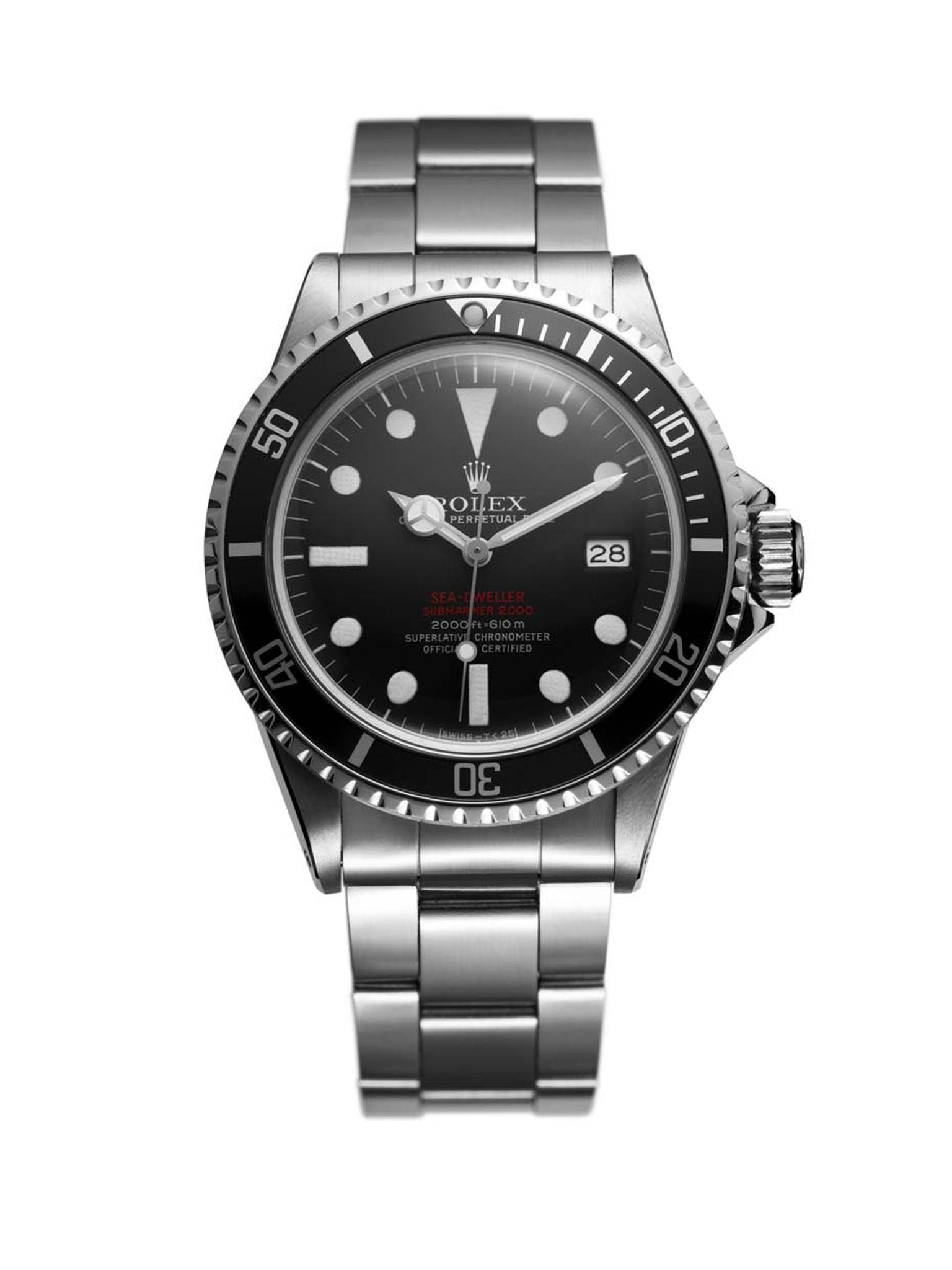 Rolex Sea-Dweller 1967 was a professional dive watch able to fathom depths of up to 600 metres.