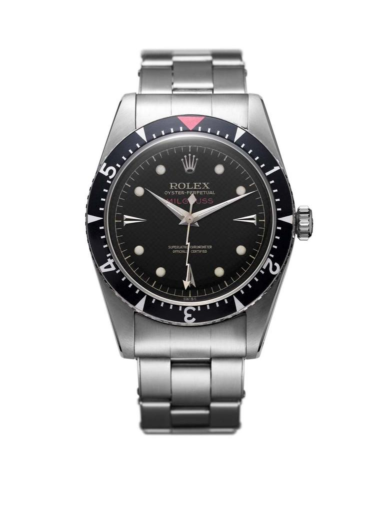 Rolex Milgauss 1956 anti-magnetic watch was adopted by scientists at CERN's headquarters in Switzerland thanks to its ability to withstand magnetic fields of up to 1,000 Gauss.