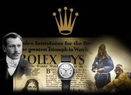 The logo of the giant Swiss watchmaker Rolex is a five-pronged crown, a suitable symbol for the king of the watch castle.