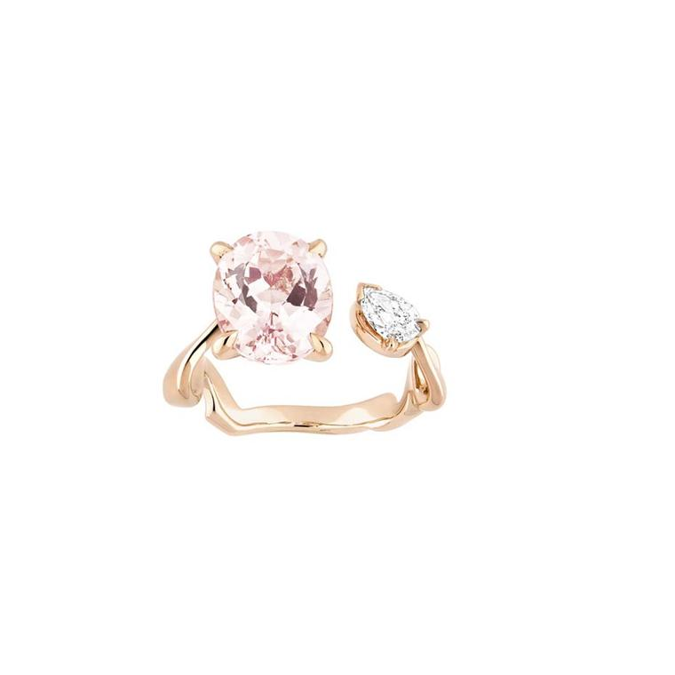 In soft tones of rose gold, pink morganite and diamonds, this Dior ring from the new Diorama Precieuse collection is the perfect piece to usher in spring.