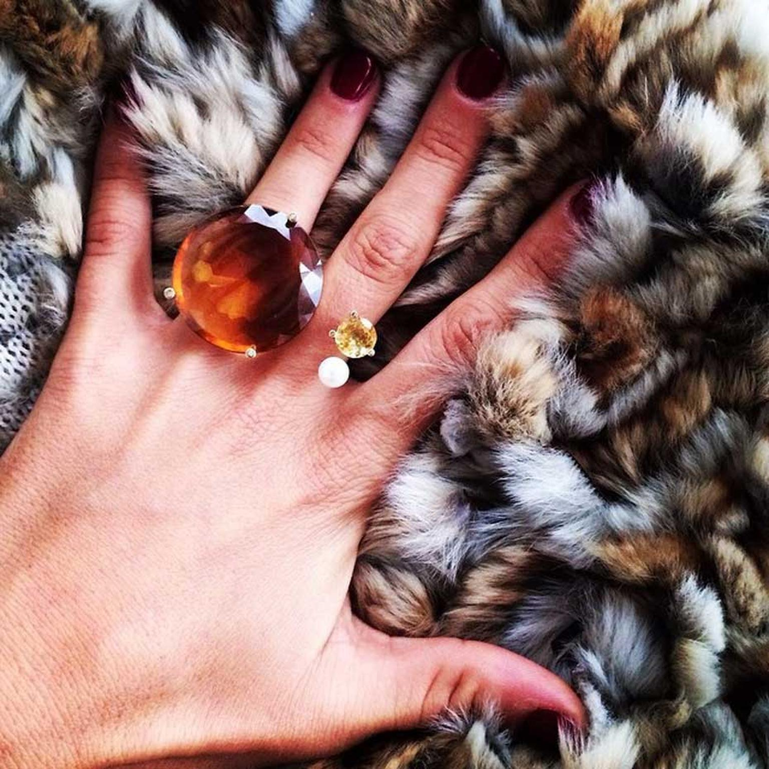 Italian jewellery designer Delfina Delettrez regularly shares snaps of her unique and colourful jewellery on Instagram. Image: @delfinadelettrez Instagram