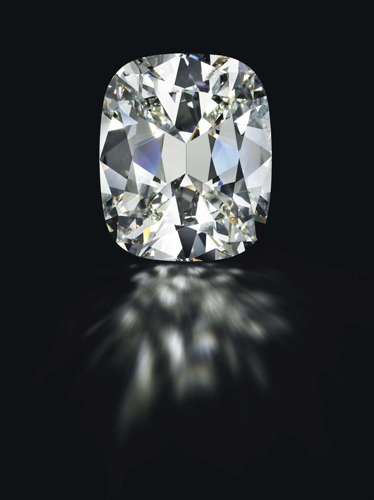 Another top lot at the Magnificent Jewels auction at Christie's New York on 14 April is this cushion-shaped 80.73ct diamond, with an estimate of $4-5 million.