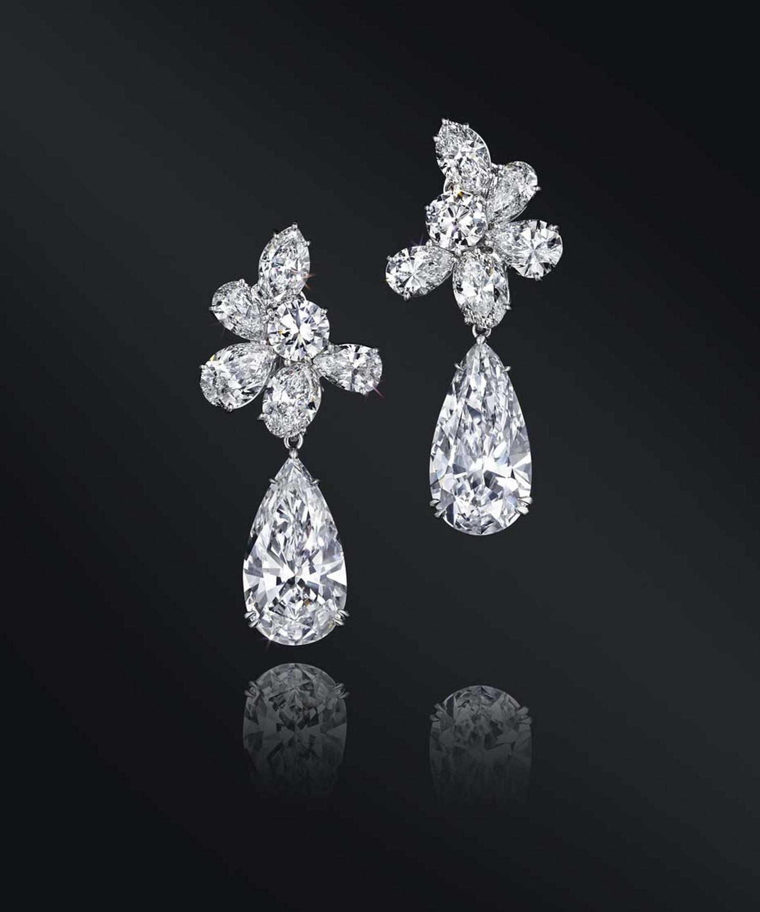 This beautiful pair of D-color Harry Winston diamond ear pendants is expected to achieve between $1.5-2 million at Christie's Magnificent Jewels auction in New York on April 14.
