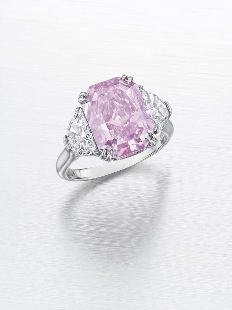 Christie's Magnificent Jewels pink diamond ring