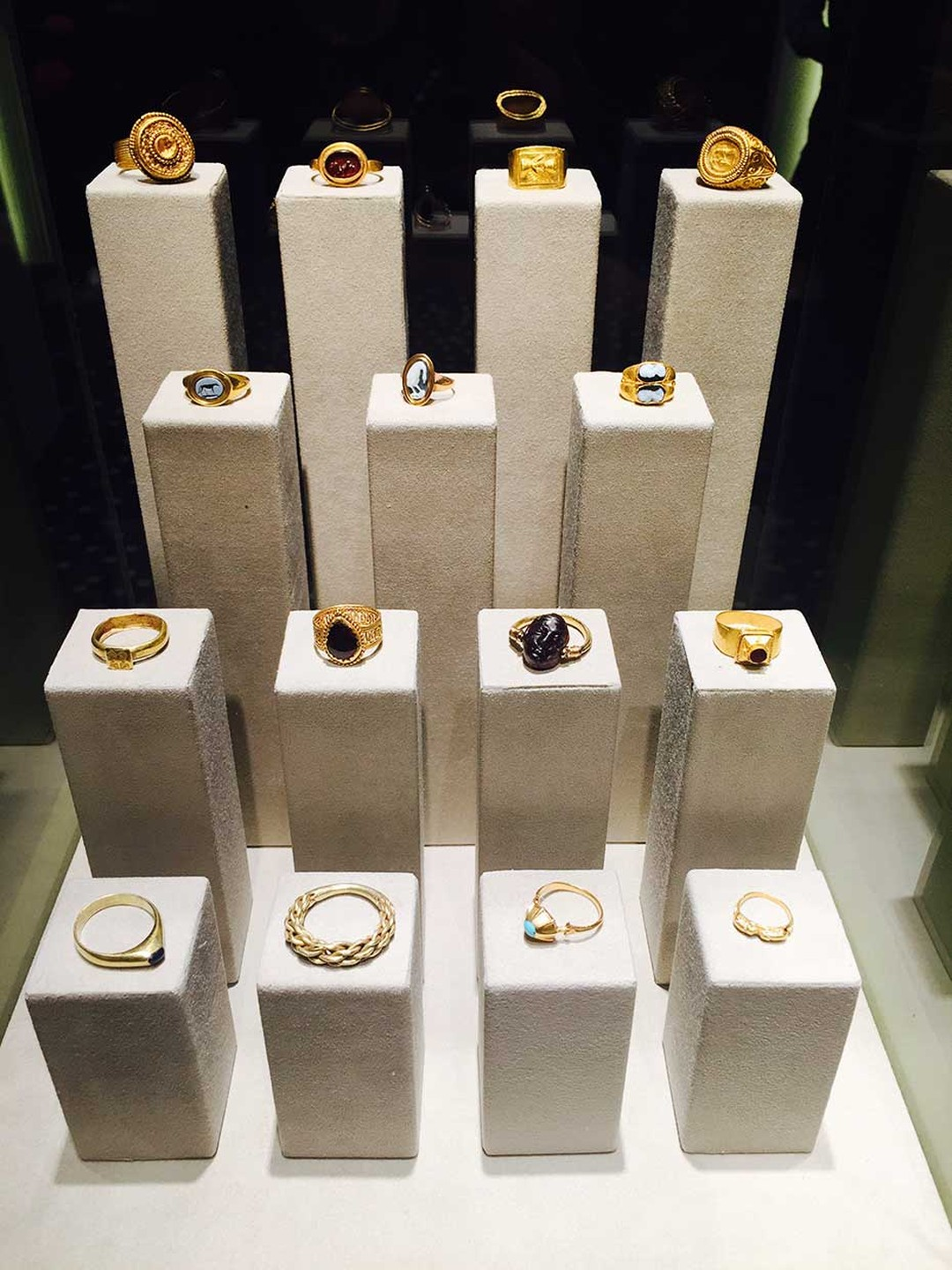 At Les Enluminures, specialists in early manuscripts, rings range in date from Ancient Rome to the 19th century, with prices from $5,000 to $50,000.