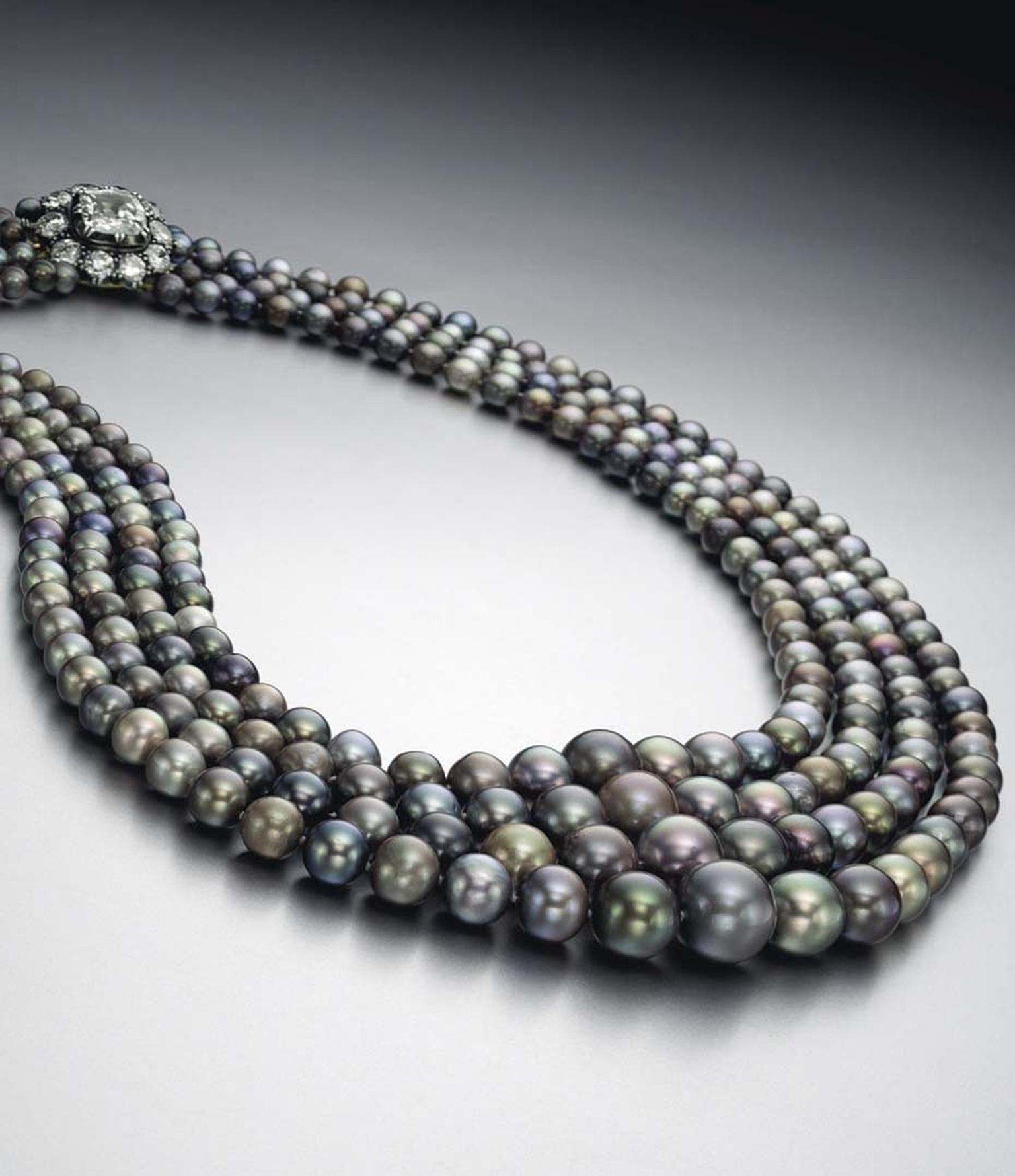 This four-strand natural saltwater pearl necklace set a new world record when it sold for just over $5 million at Christie's New York in 2015