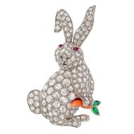 Easter jewellery: ruby-eyed rabbits and bejewelled bunnies