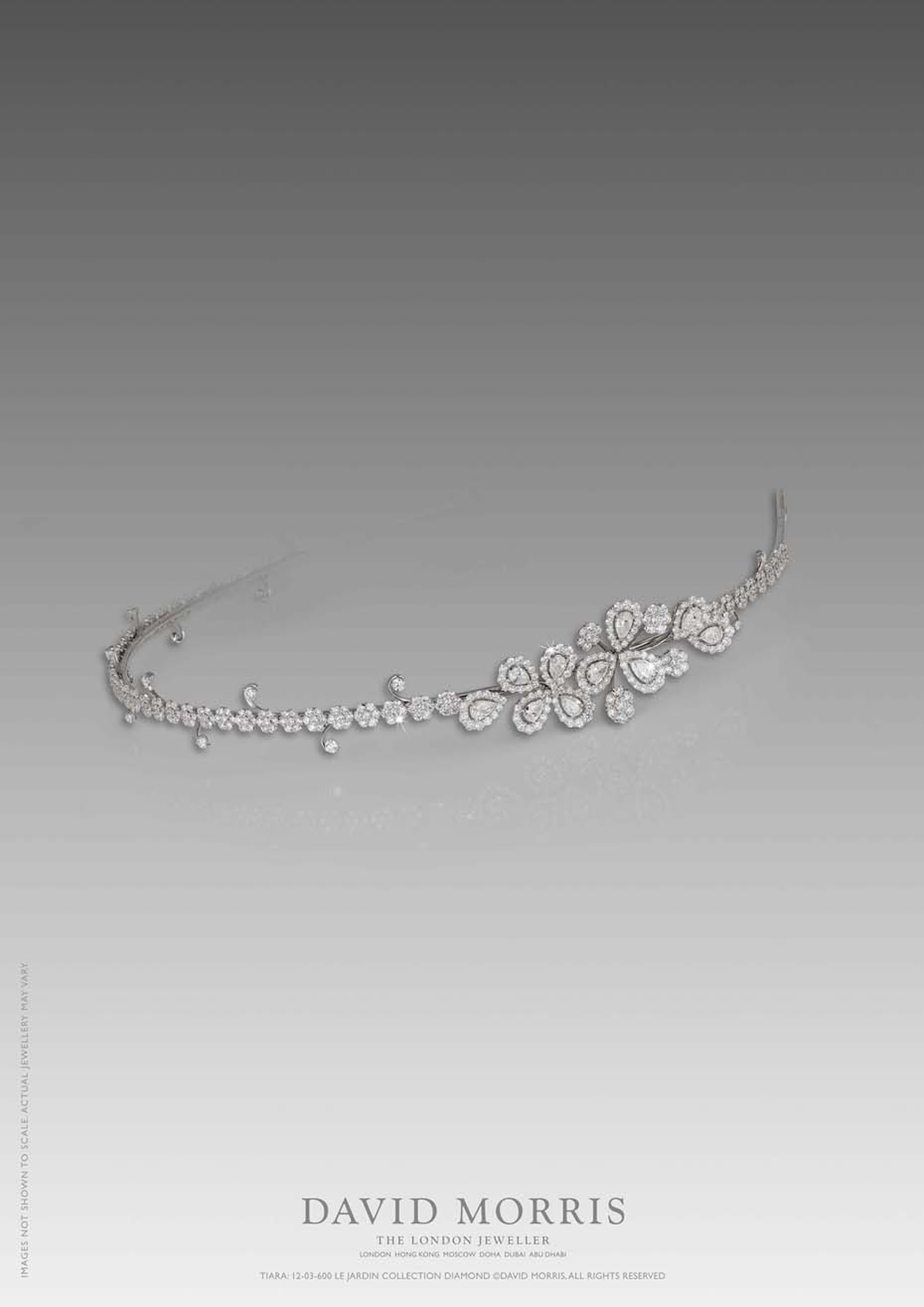 This pretty white gold and diamond headpiece from David Morris jewellery would make a stunning bridal tiara.