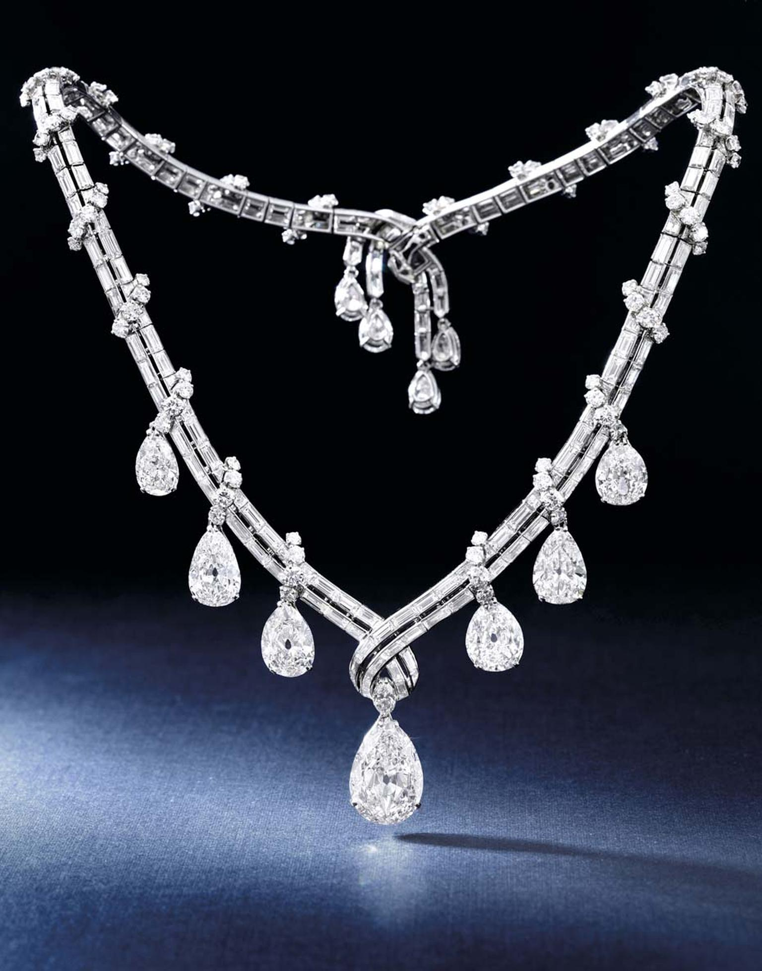 Bulgari jewellery diamond necklace, dating back to the 1950s, will go under the hammer at Sotheby's Hong Kong Magnificent Jewels and Jadeite spring sale on 6 April.
