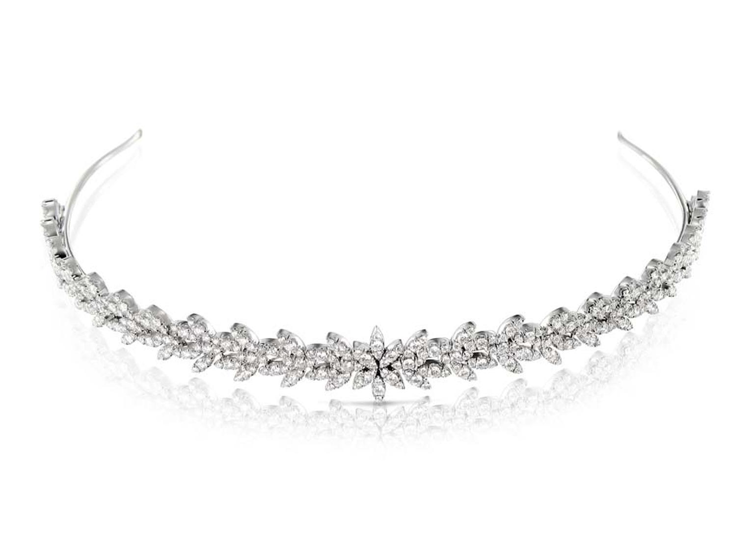 Pasquale Bruni's Ghirlanda diamond-set white gold tiara.
