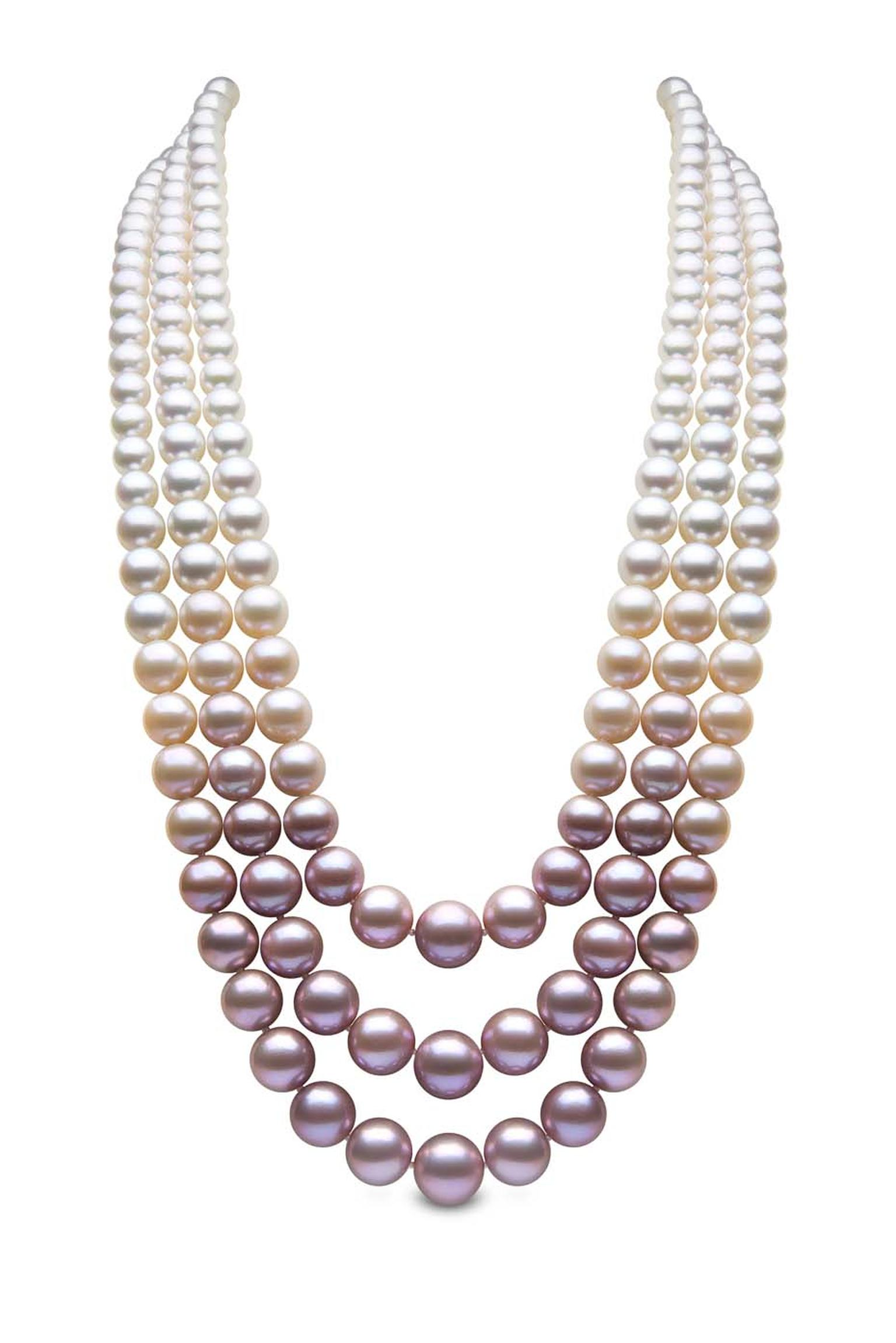 pearl rwco en multistrand necklace rw co