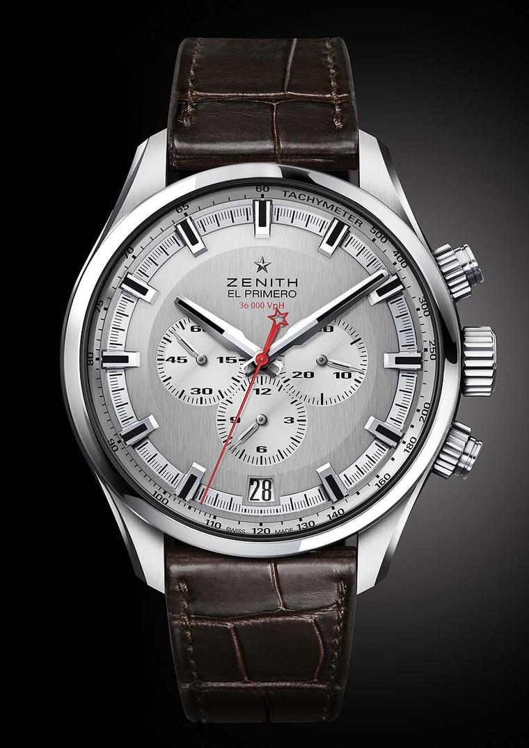 The new Zenith El Primero Sport chronograph collection is the worthy heir to its forebear El Primero, the world's first high-frequency, automatic chronograph presented in 1969. Presented in an imposing 45mm diameter case, the crown and pushers have been r