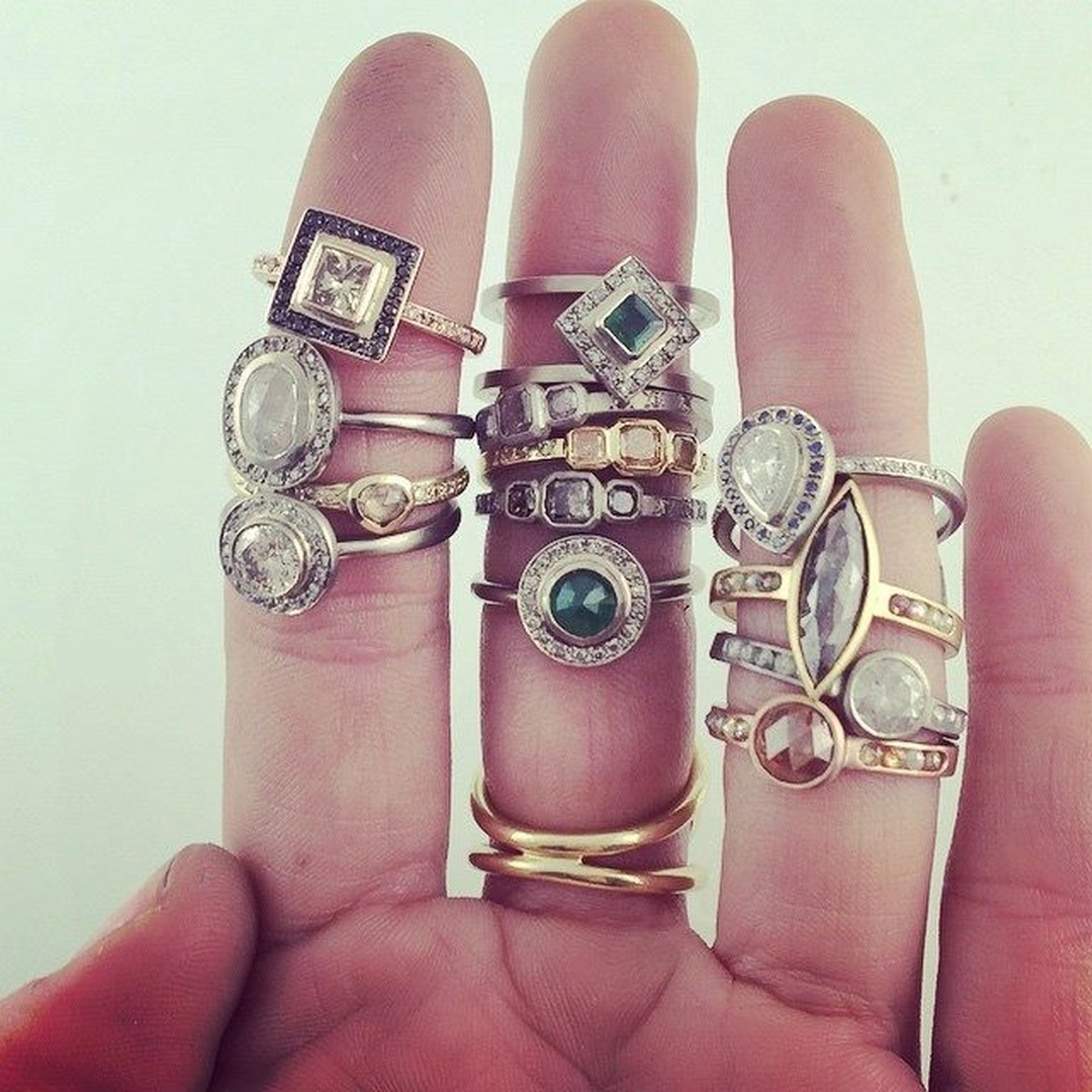 A selection of unique engagement rings from Tomfoolery's Metier collection.