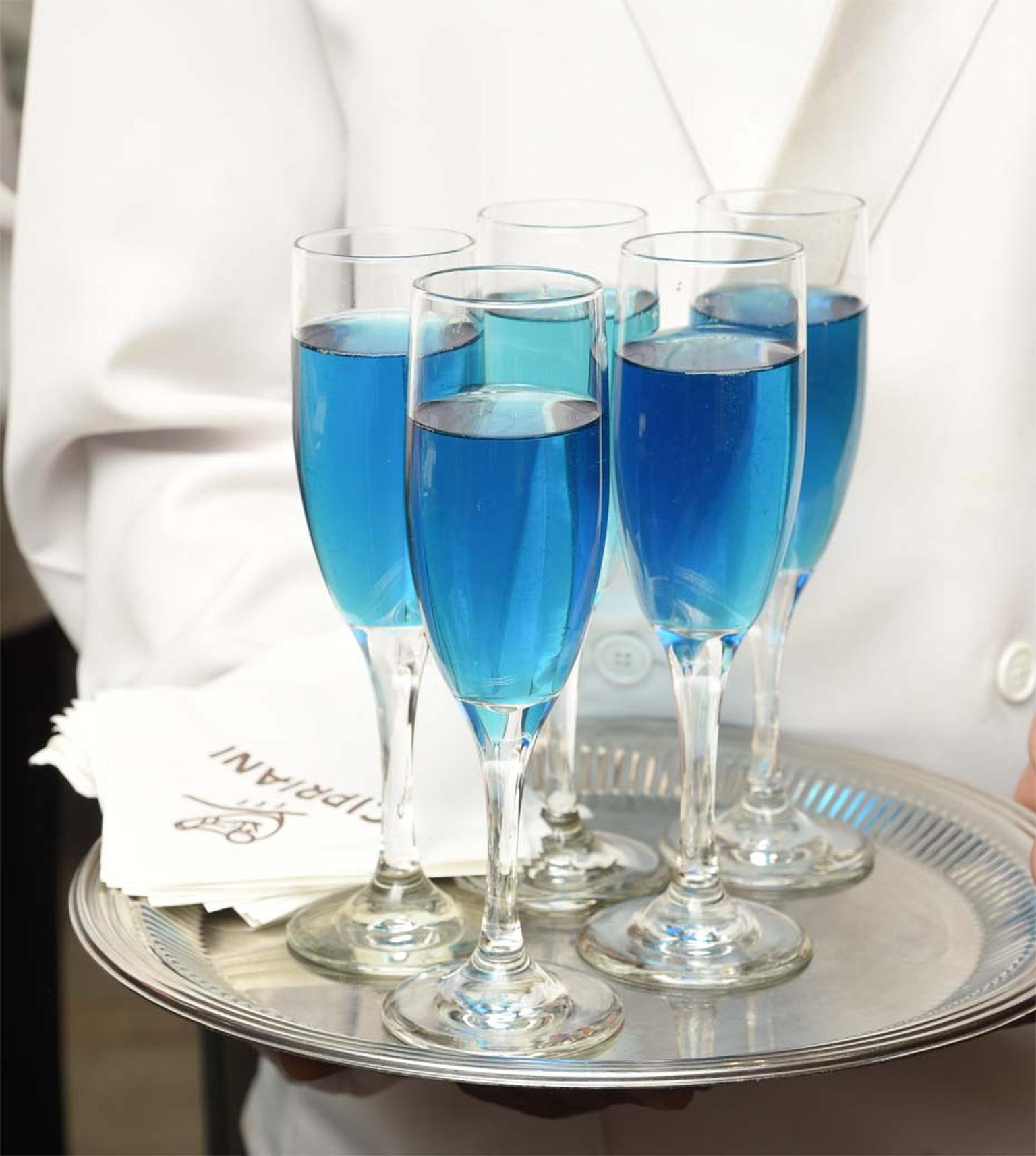 The atmosphere was Timeless Blue at the opening of Buccellati's flagship store in New York.