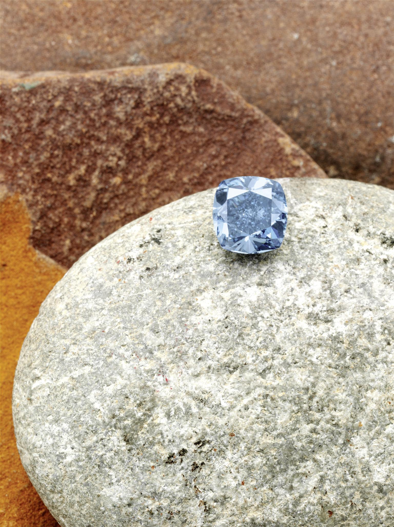 The Star of Josephine, a 7 carat, internally flawless, fancy vivid blue diamond recovered from Cullinan by Petra Diamonds - a leading independent diamond mining group and supplier of rough diamonds.