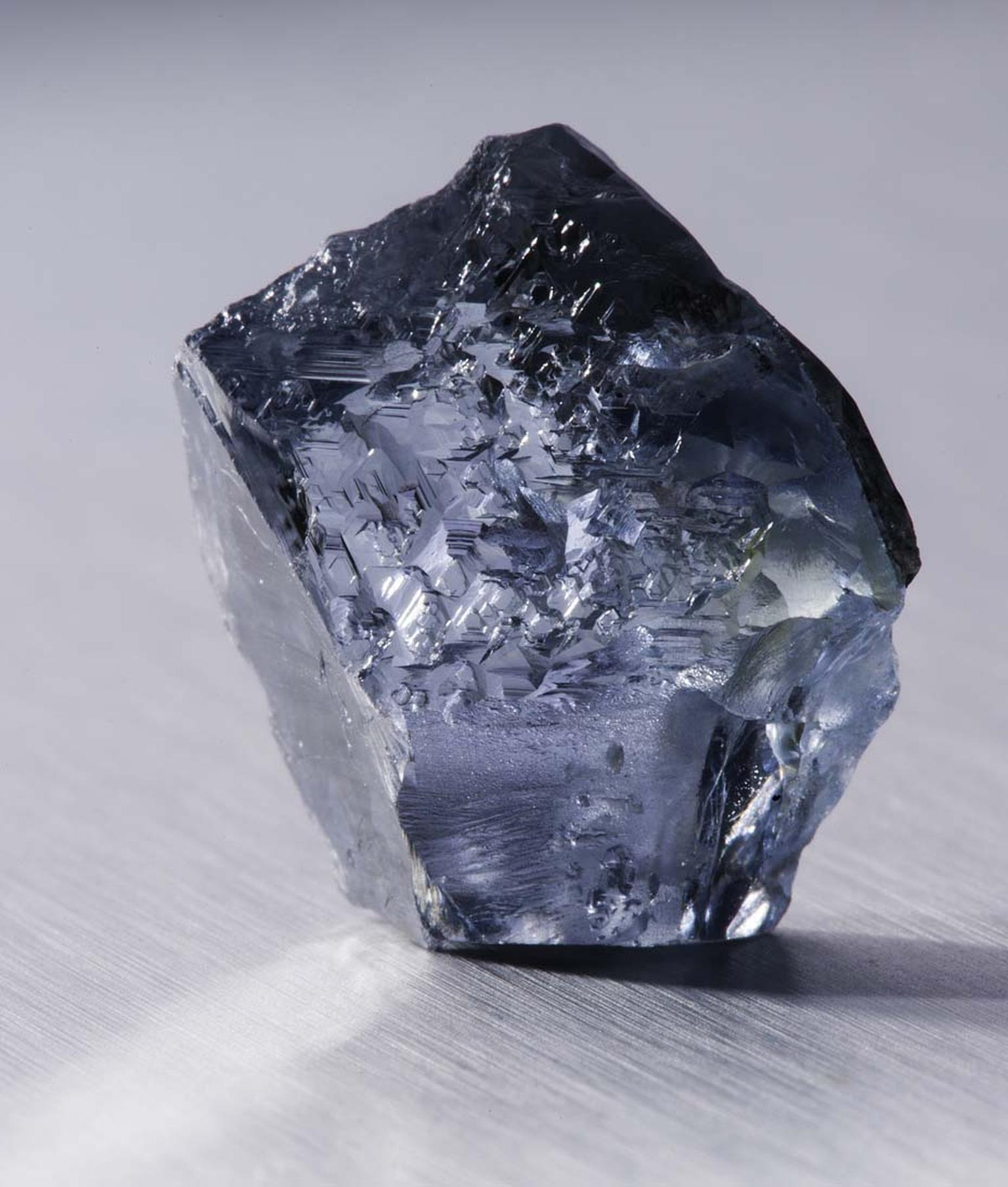 Petra Diamonds recovered this exceptional 29.62ct rough blue diamond in January 2014 at its Cullinan mine in South Africa.