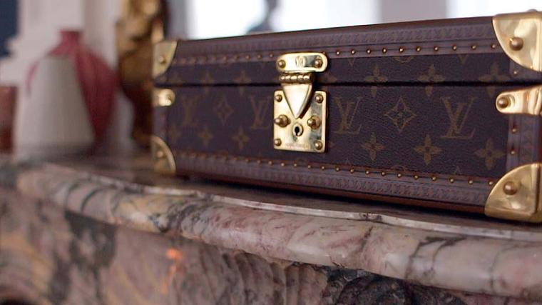 The famous monogram pattern found on Vuitton's Victorian steamer trunks is used in the house's watch and jewellery collections.
