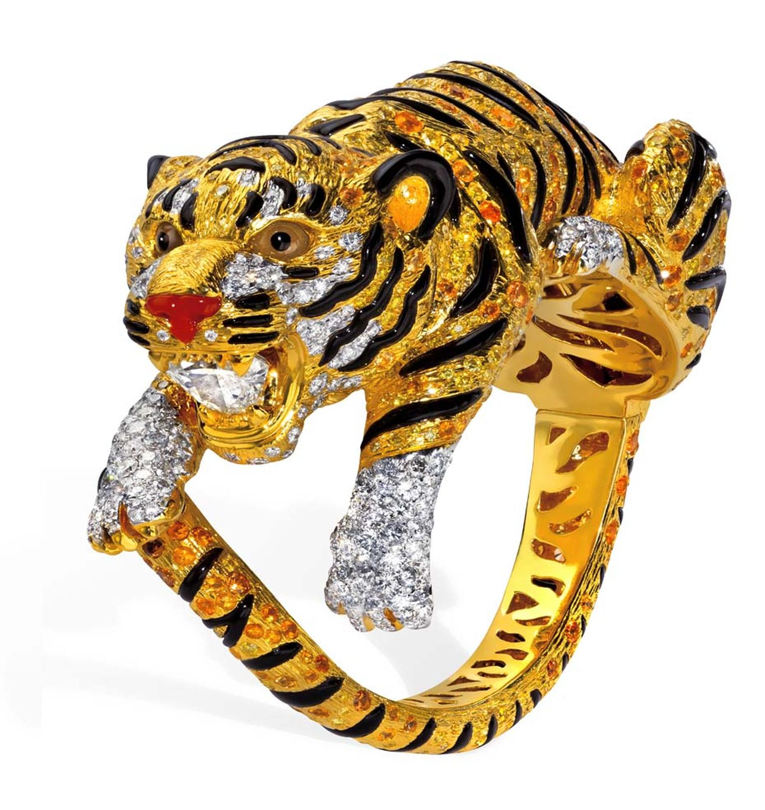 Anna Hu's imperial Tiger bangle.