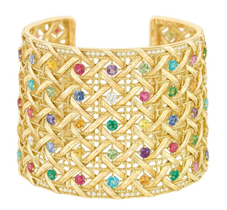 My-Dior-Cuff-Yellow-gold-and-coloured-stones