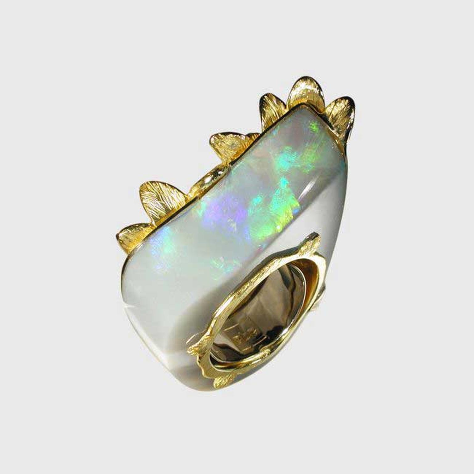 AQA Coober Pedy opal ring.