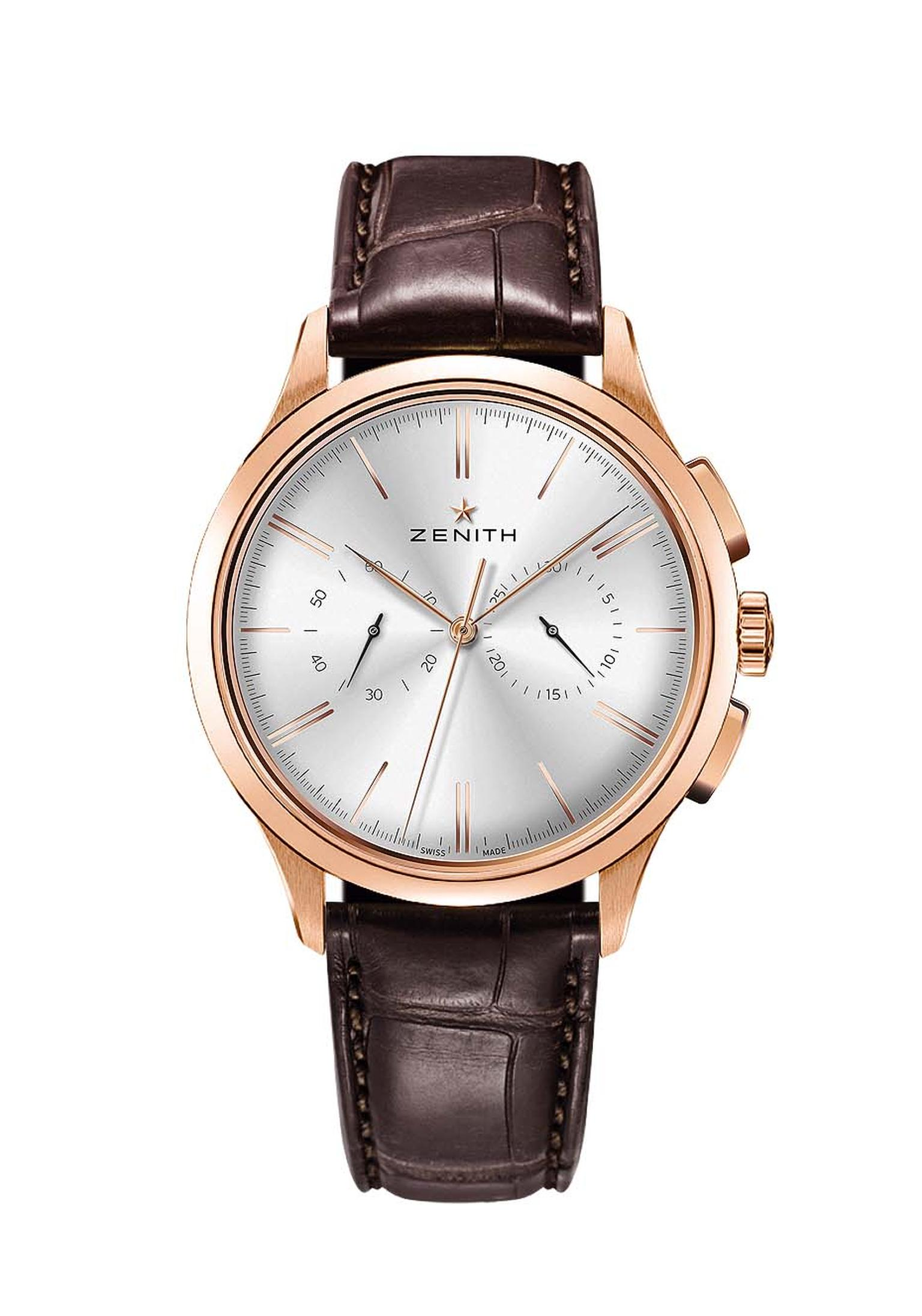 Zenith El Primero Chronograph Classic is one of the most handsome chronograph watches on the market today. With its lean 42mm rose gold case and cambered dial with bi-compax display, this watch is a classic for tomorrow.