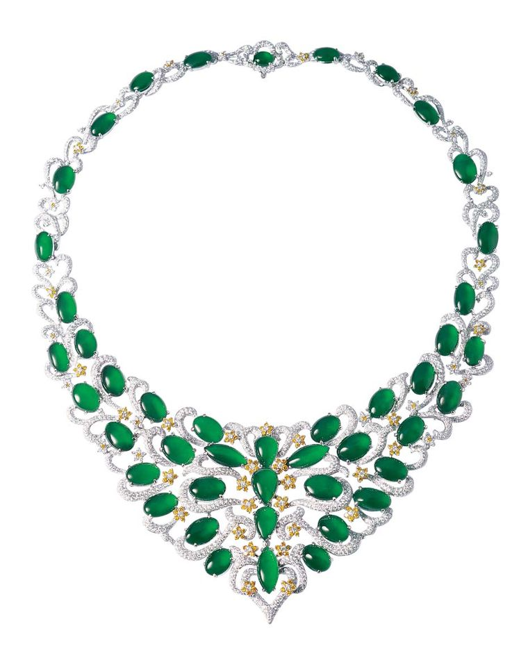 Zhaoyi 39 s mouthwatering jade jewellery debuts at baselworld for Pictures of jade jewelry