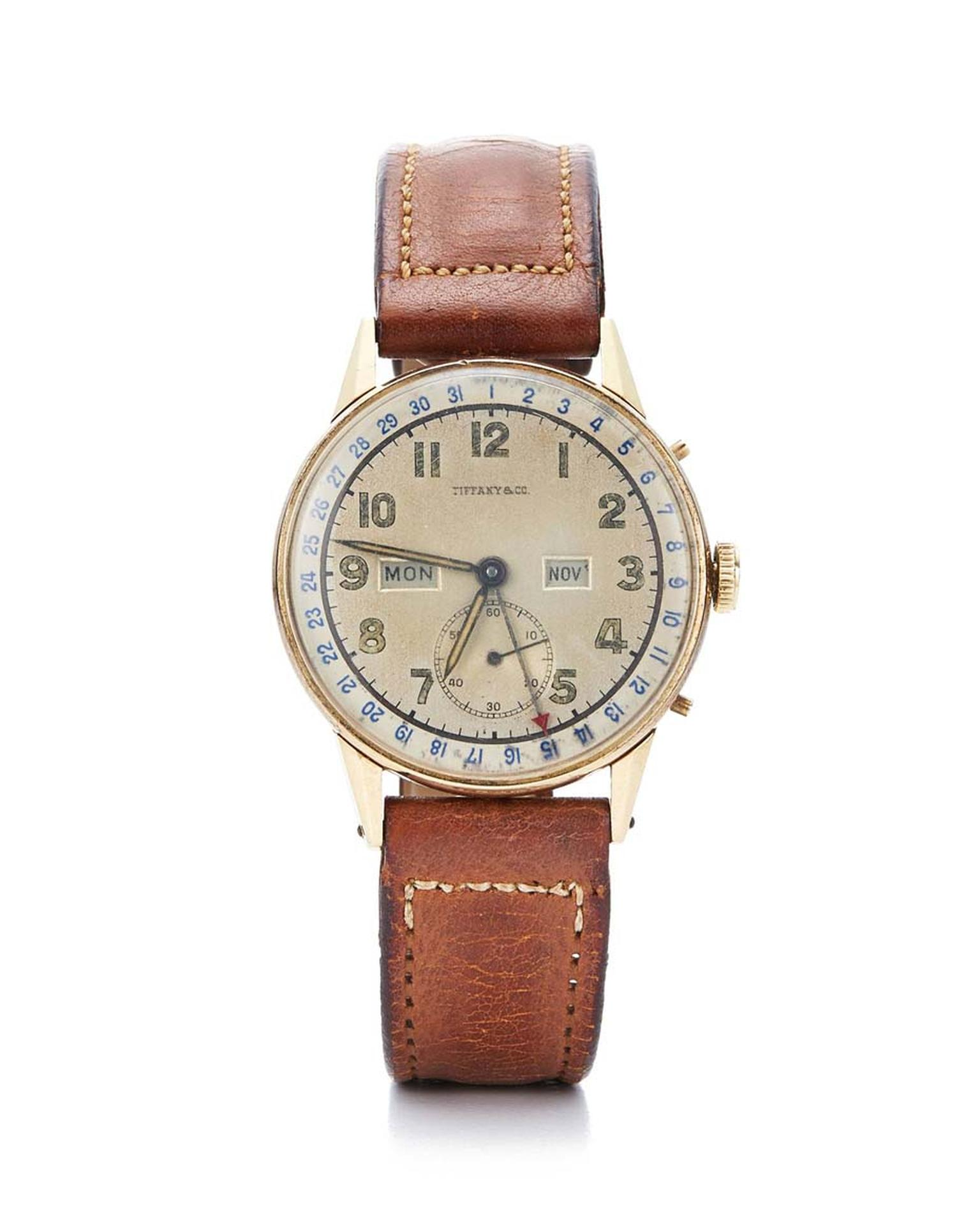 The original Tiffany & Co. gold watch given to US President Franklin D. Roosevelt on his birthday in 1945, and the inspiration behind the CT60 collection. With its day, date, month, small seconds and chronograph functions, Roosevelt wore his watch to the