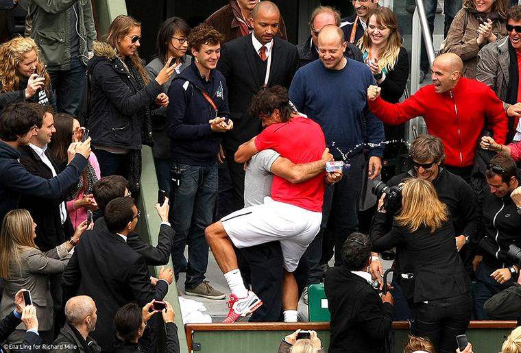Rafael Nadal at the French  Open 2012