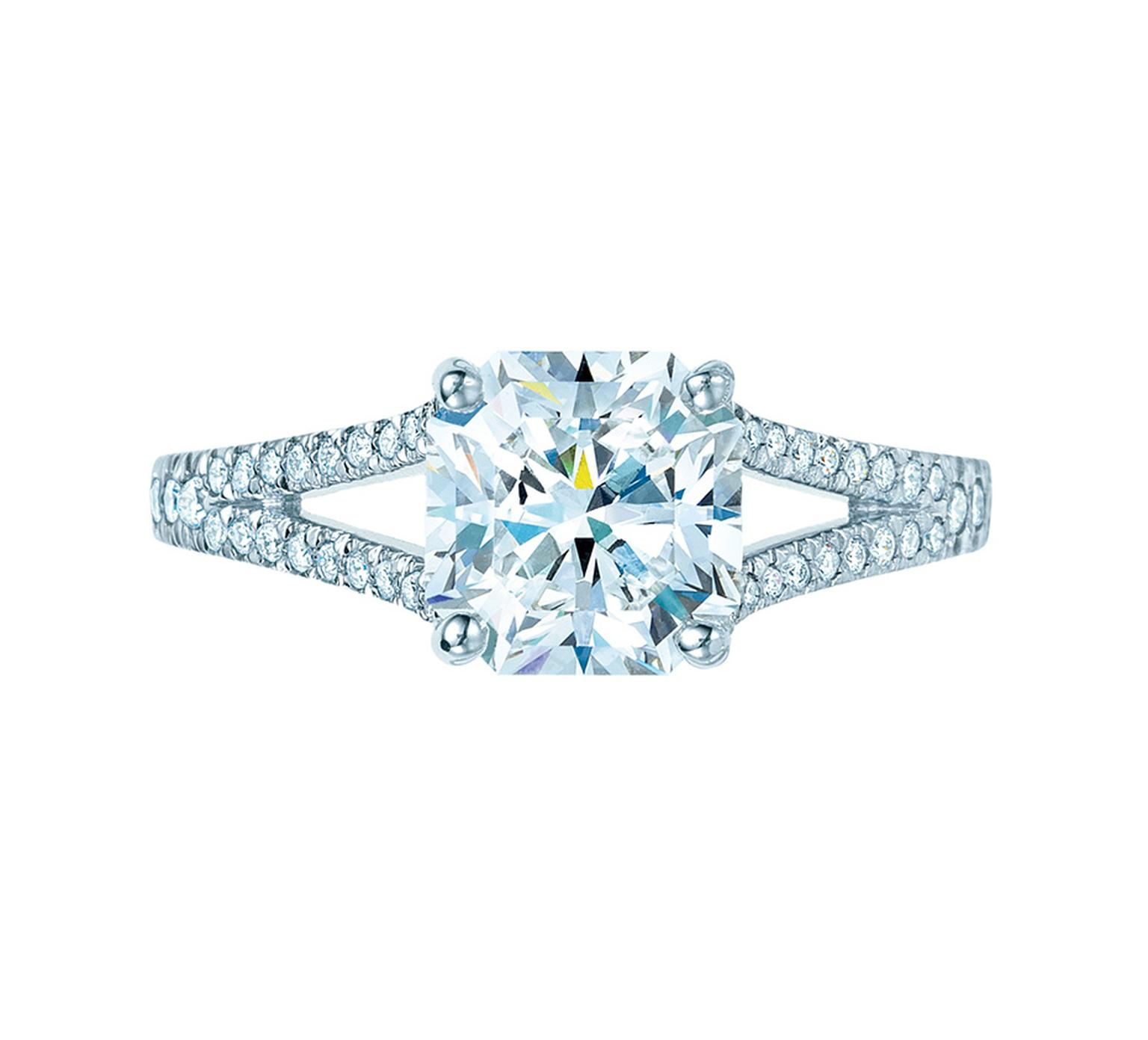 Tiffany & Co. Lucida diamond engagement ring.