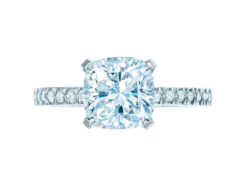 Tiffany & Co. Novo diamond engagement ring.