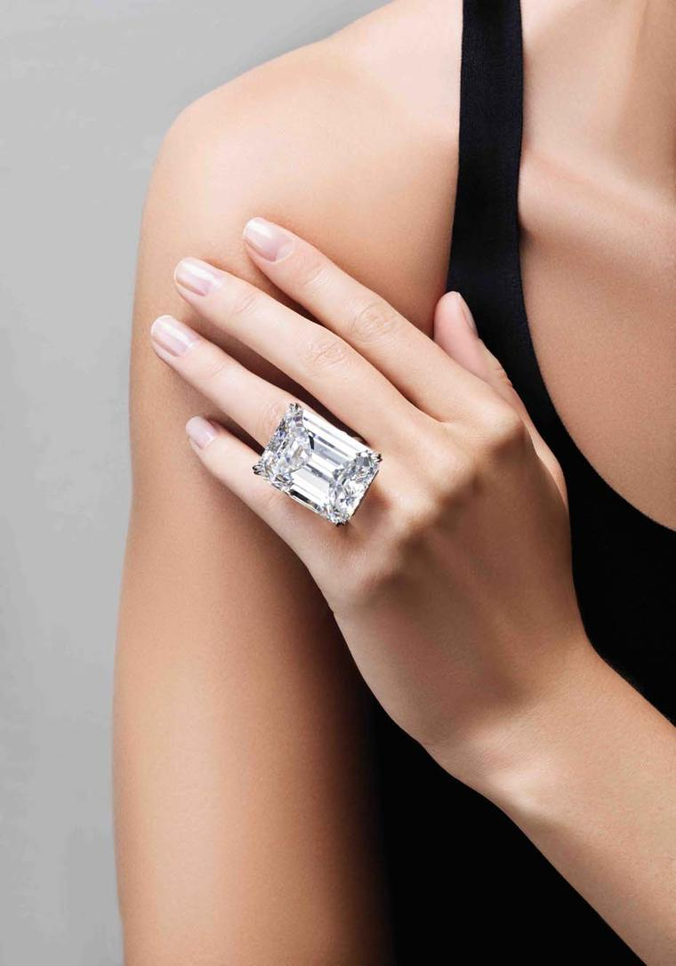 "The ""ultimate emerald-cut diamond"" auctioned by Sotheby's"
