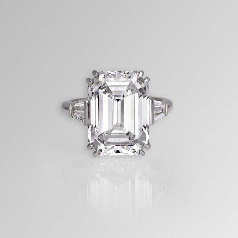 The most beautiful emerald-cut diamond rings