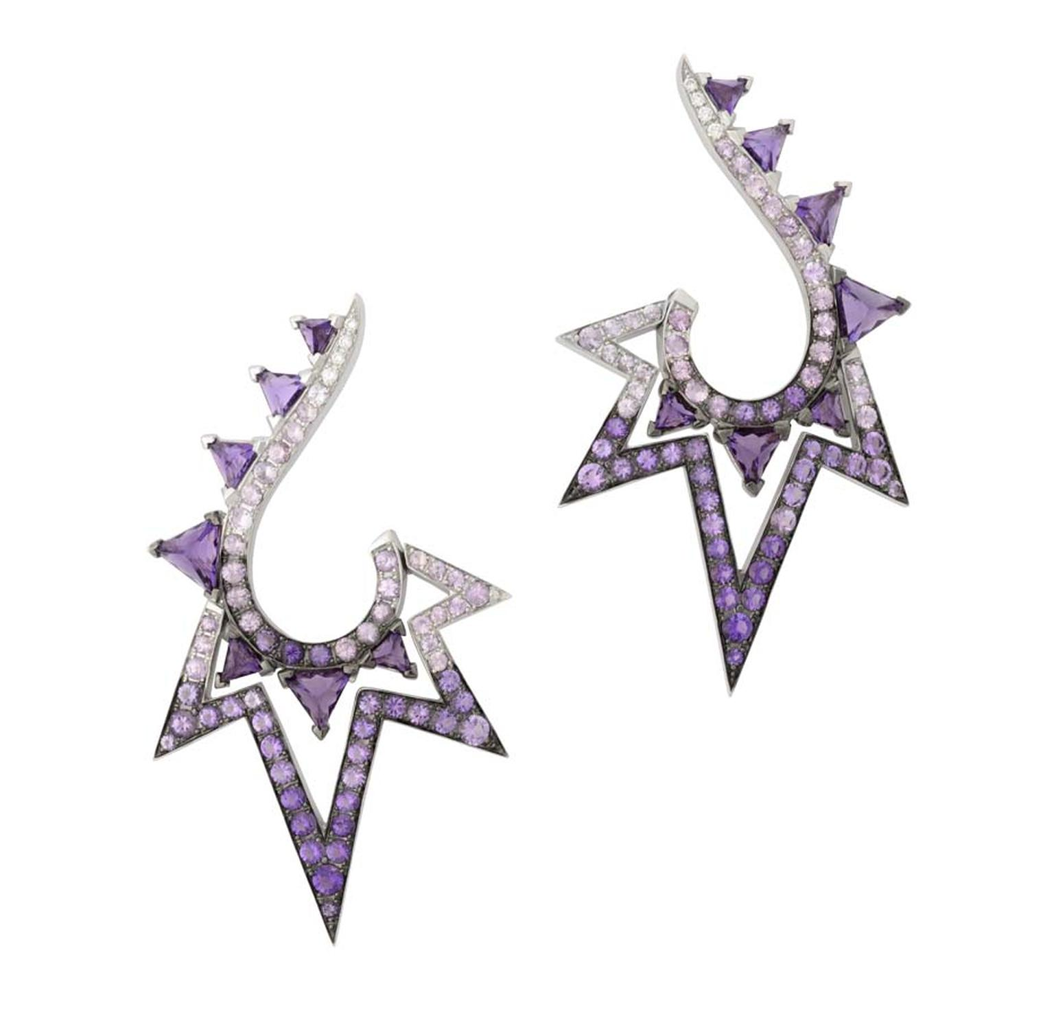 David Bowie's alter ego Ziggy Stardust was the inspiration for Stephen Webster's Lady Stardust collection, which includes this pair of geometric-style earrings.
