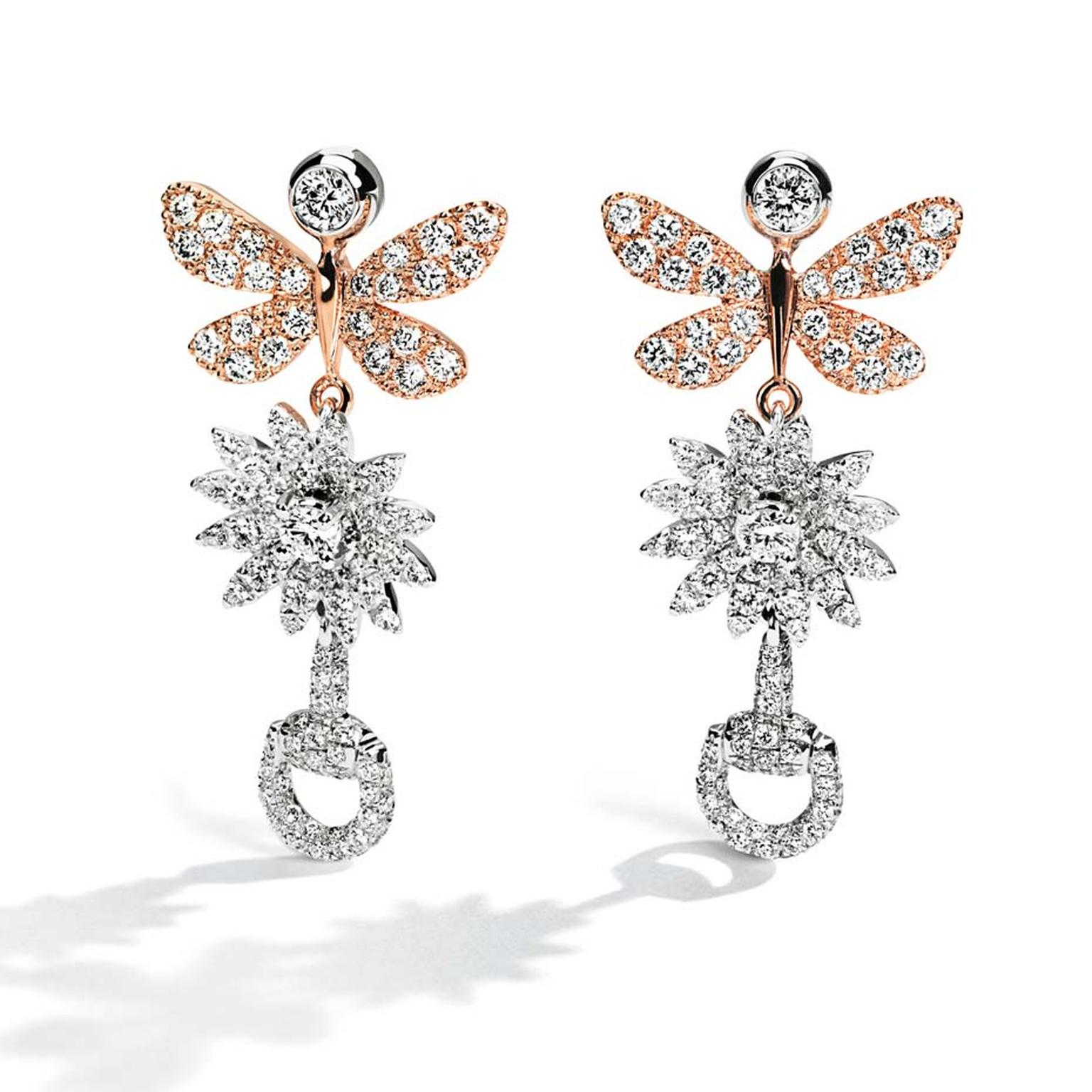 Butterfly jewellery_Basel_Gucci_Rose gold and white gold diamond butterfly drop earrings.jpg