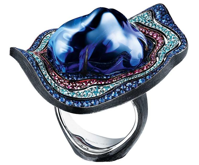 Jewellery Theatre baroque tanzanite ring.
