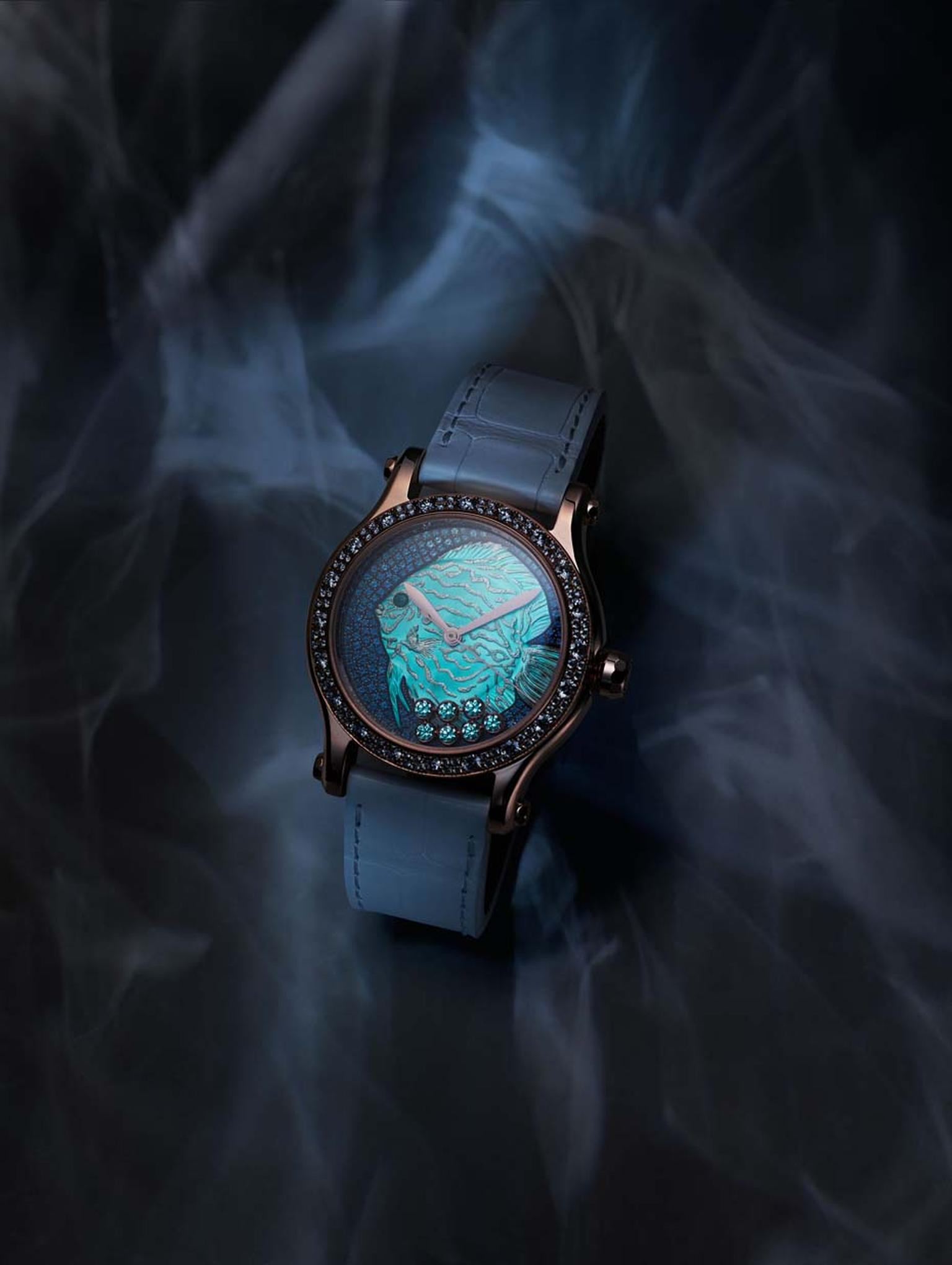 Butterfly and fish watches_Chopard_Happy Fish watch blue strap.jpg