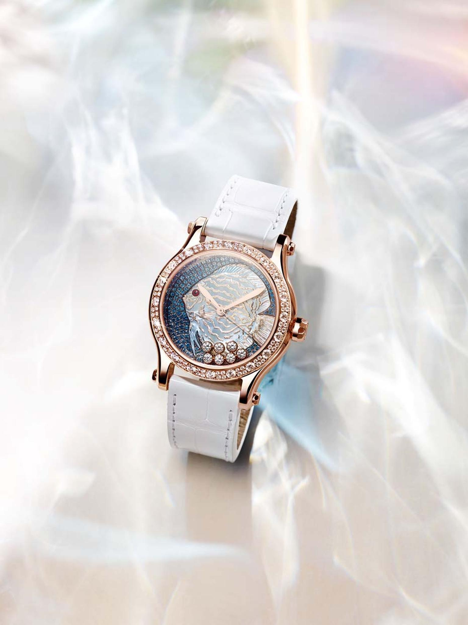 Butterfly and fish watches_Chopard_Happy fish watch white strap.jpg