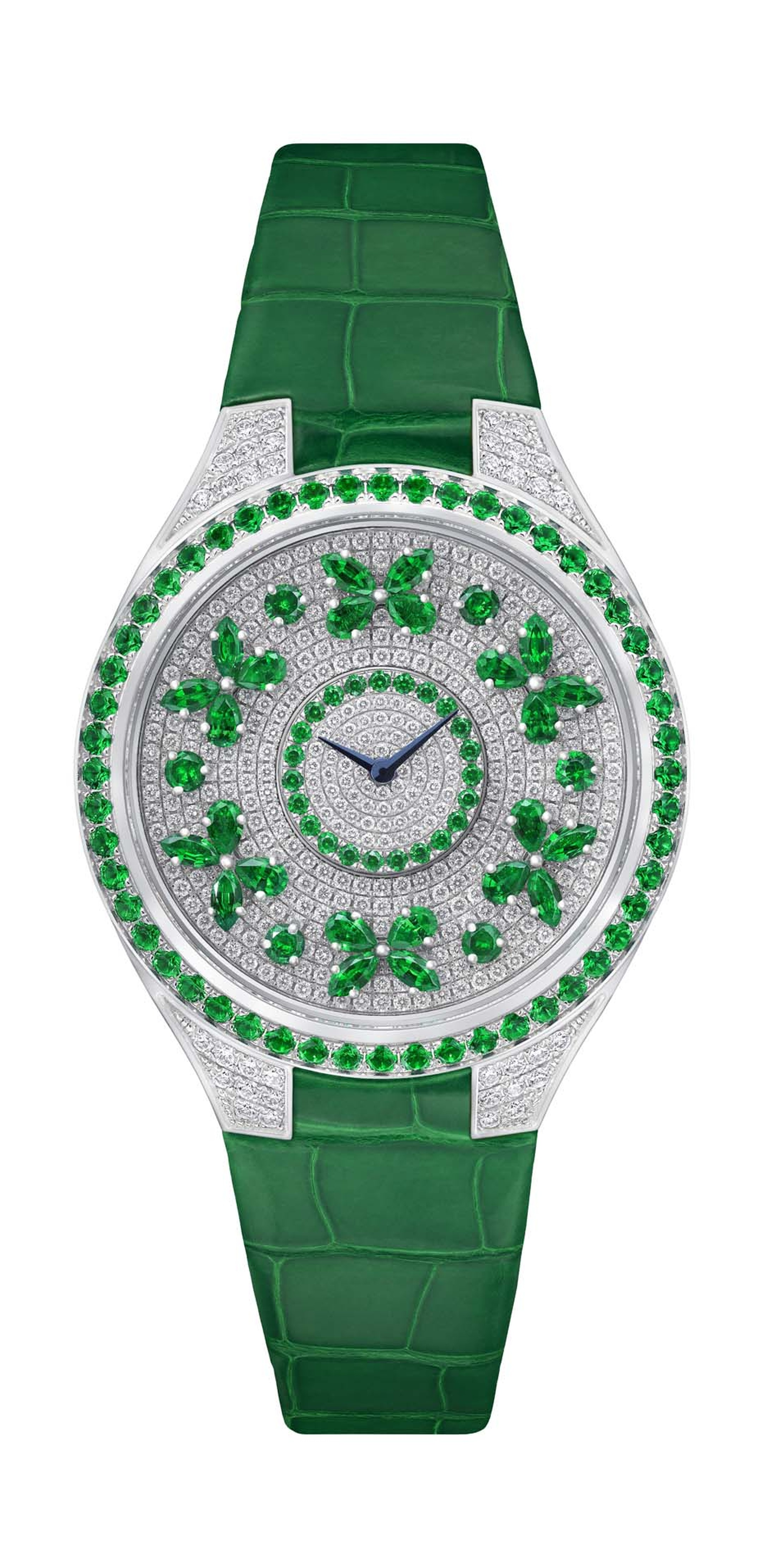 Butterfly and fish watches_Graff_Butterfly disco white and emerald diamond watch.jpg