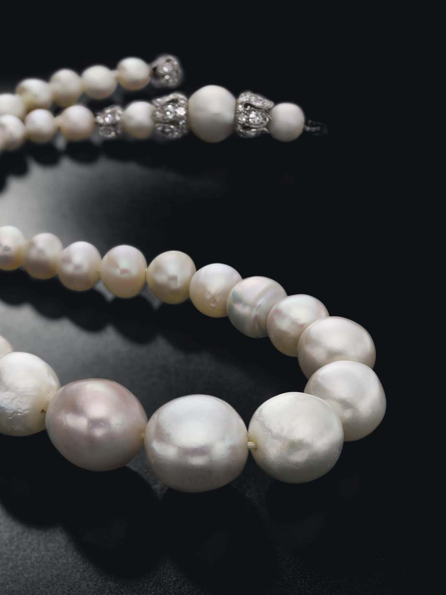 This single-strand, natural saltwater pearl necklace sold for $3.89 million at Christie's Magnificent Jewels auction on 13 May 2015.