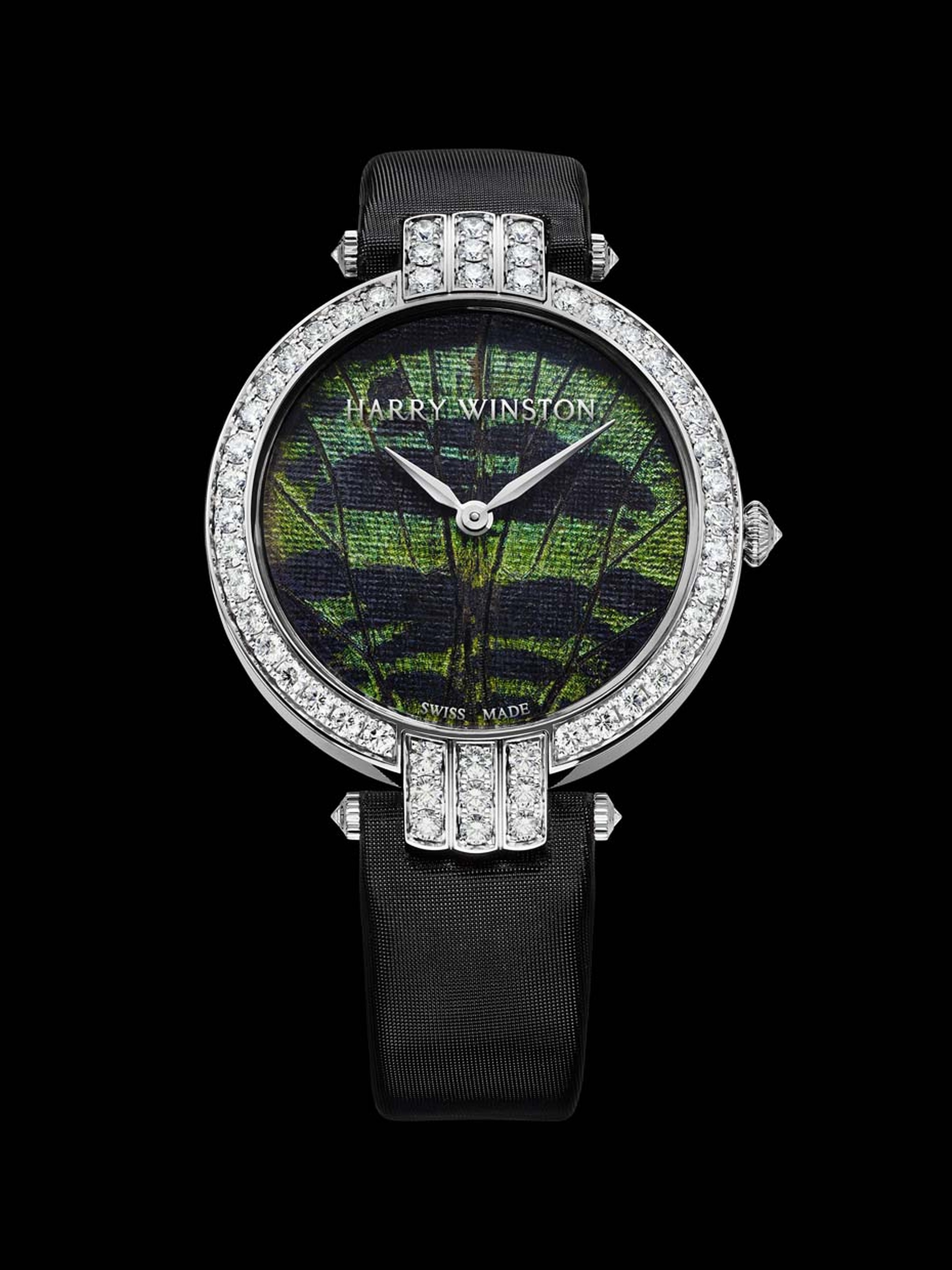 Harry Winston Premier Precious Butterfly watch - close up