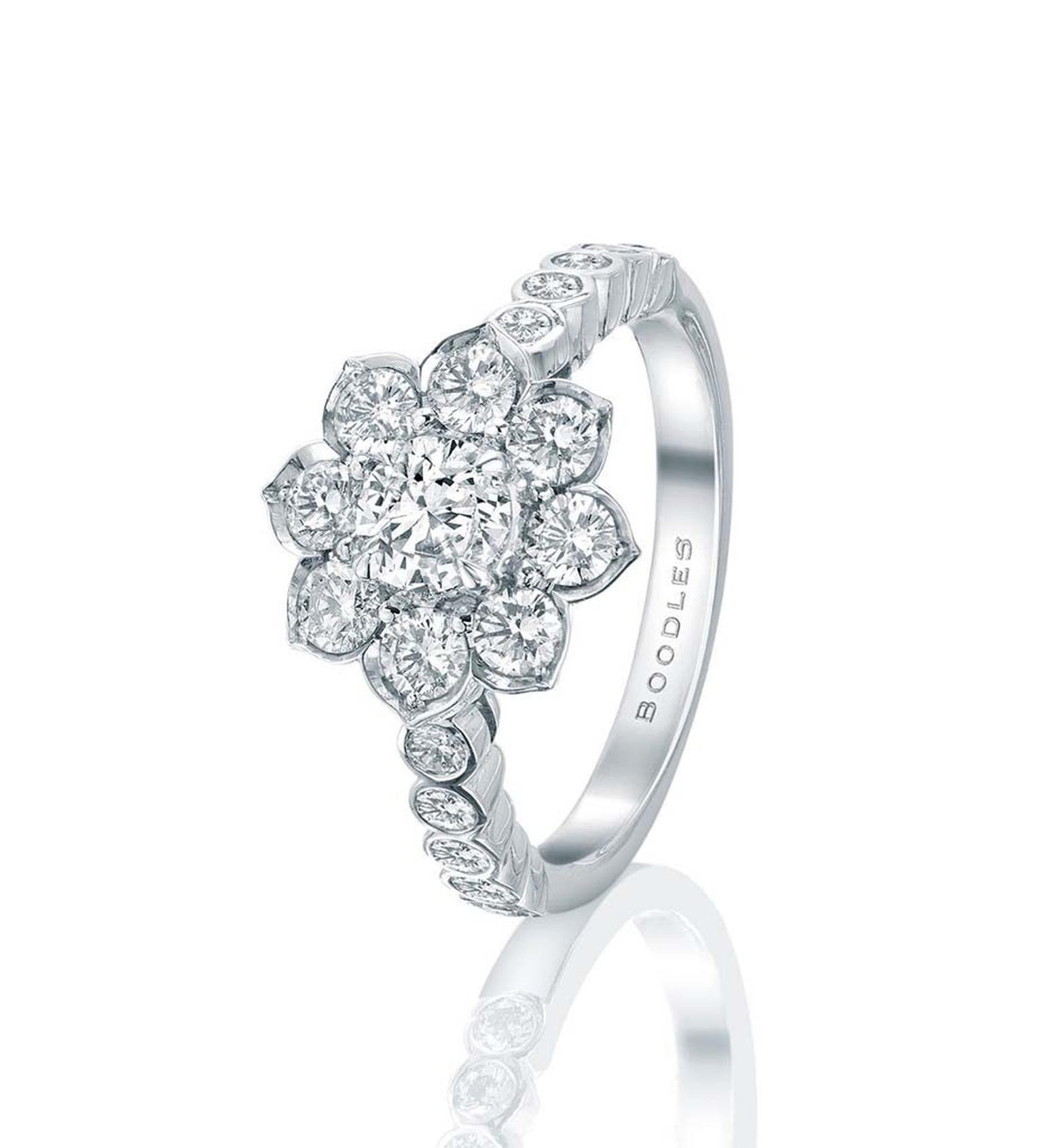 The Passionflower Engagement Ring From Boodles Is Set With A. Pisces Engagement Rings. Design Band Engagement Rings. Cobra Snake Rings. Palladium Metal Wedding Rings