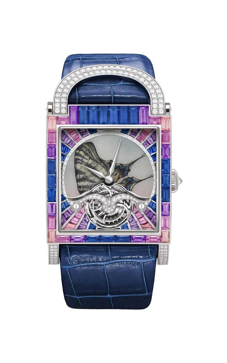 DeLaneau Dôme Tourbillon Butterfly Le Flambé watch