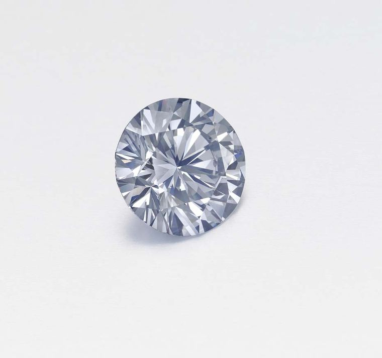 This 5.04ct circular-cut fancy gray-blue diamond achieved $2.29 million at Christie's New York Magnificent Jewels sale.