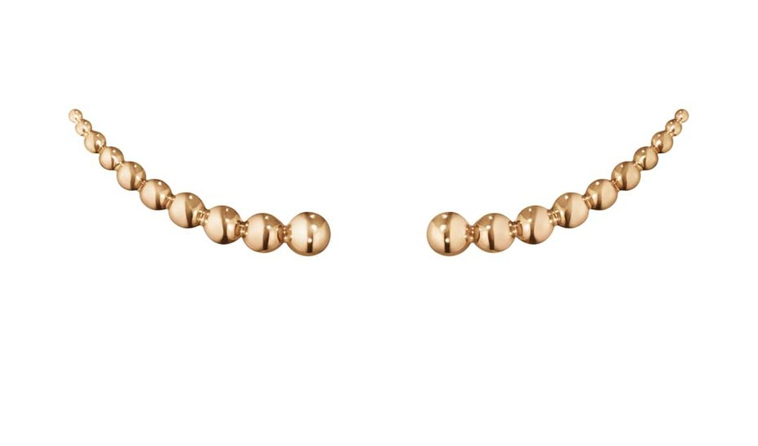 Georg Jensen rose gold ear climbers, from the Moonlight Grapes collection.