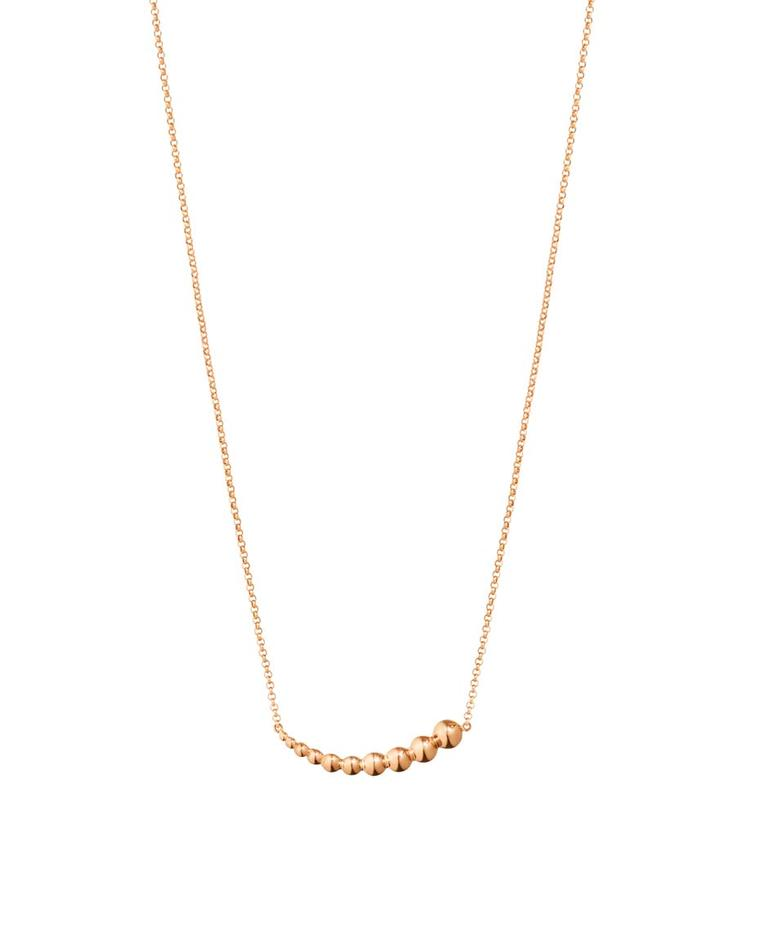 Georg Jensen rose gold pendant necklace from the Moonlight Grapes collection.