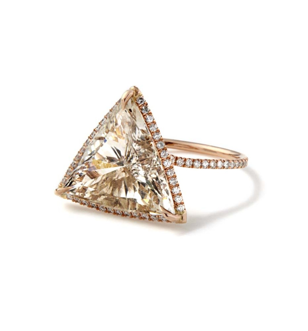 Monique Péan recycled rose gold engagement ring