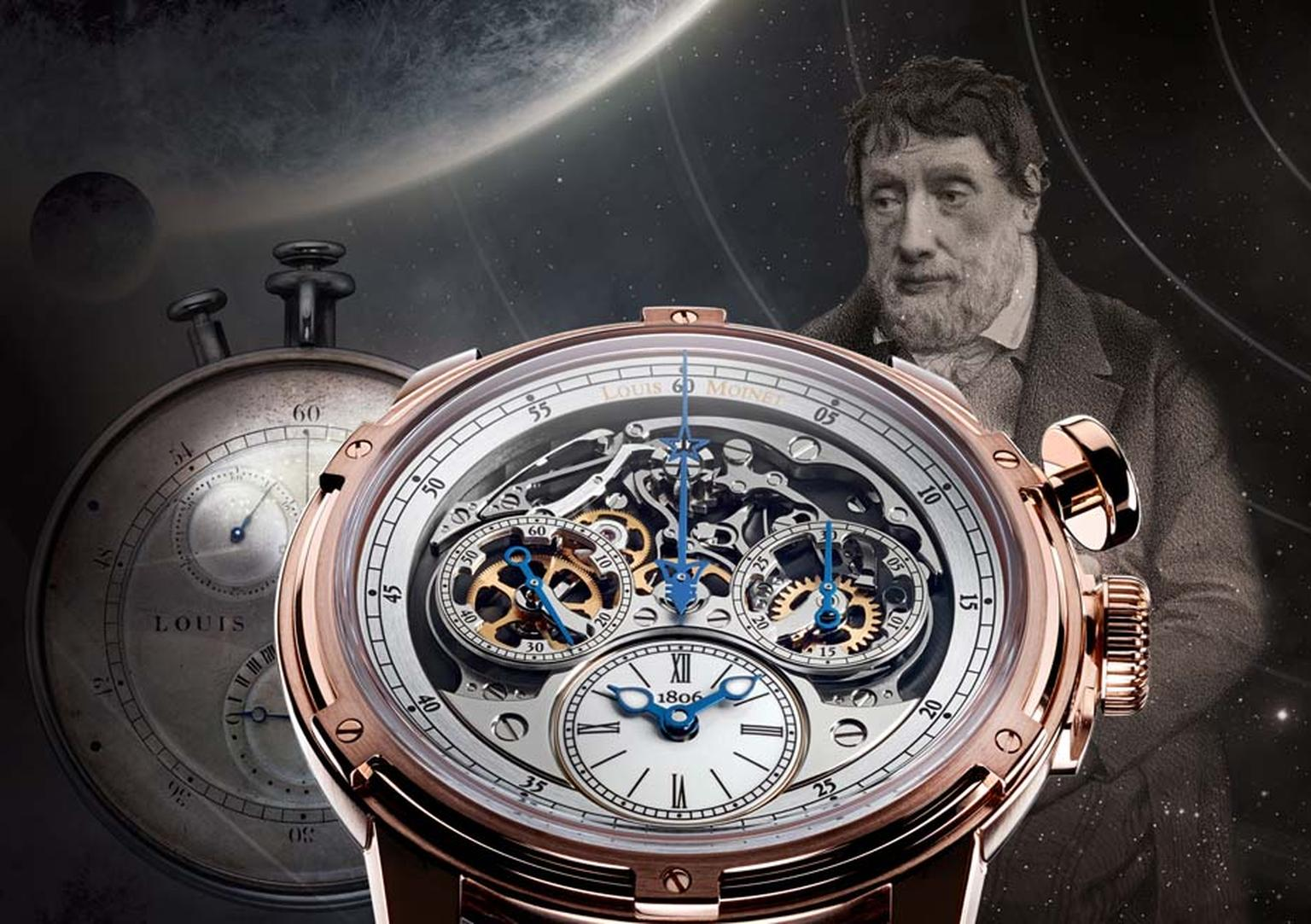 The Louis Moinet Memoris chronograph stands at a crossroads for the brand, celebrating the bi-centenary of the world's first chronograph, invented by Louis Moinet in 1816, and the brand's rebirth a decade ago in the hands of Jean-Marie Schaller.