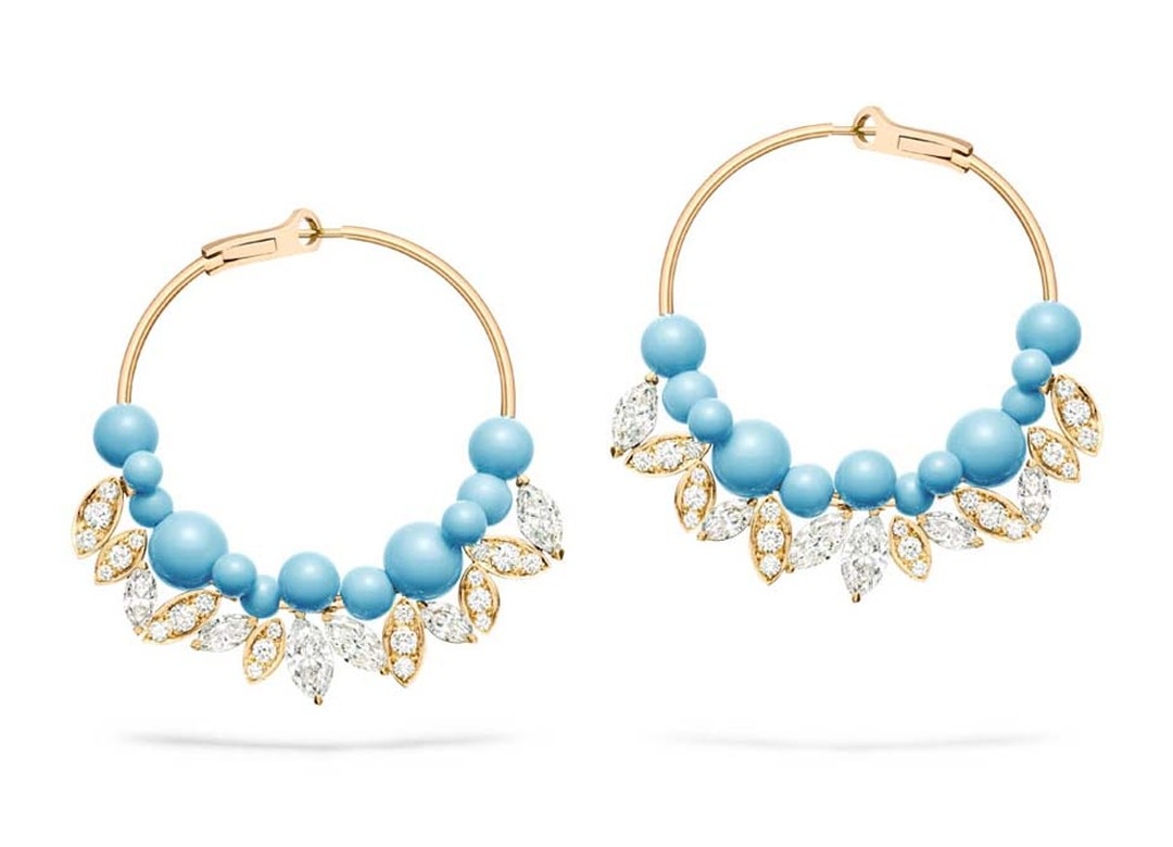 Piaget turquoise earrings from the Extremely Piaget collection.